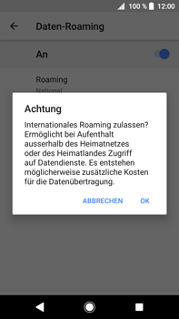 Sony Xperia XA2 Ultra - Ausland - Im Ausland surfen – Datenroaming - 11 / 14