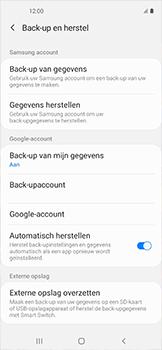 Samsung galaxy-xcover-pro-sm-g715fn - Instellingen aanpassen - Back-up maken in je account - Stap 9