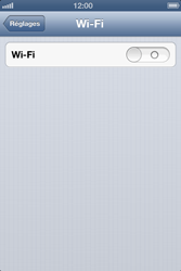 Apple iPhone 4 - WiFi - Configuration du WiFi - Étape 4