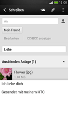 HTC Desire 601 - E-Mail - E-Mail versenden - 17 / 19