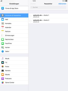 Apple iPad mini 2 - iOS 11 - Anmeldedaten hinzufügen/entfernen - 10 / 13