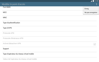 Samsung T535 Galaxy Tab 4 10.1 - MMS - Configuration manuelle - Étape 15