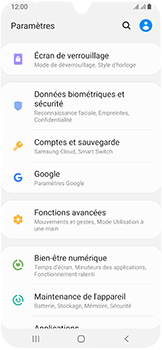 Samsung Galaxy A40 - Appareil - configurer Localiser mon appareil - Étape 4