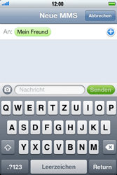 Apple iPhone 3GS - MMS - Erstellen und senden - 9 / 16