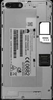 Huawei Ascend G6 - SIM-Karte - Einlegen - Schritt 4