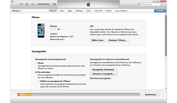 Apple iPhone 5s - iOS 8 - Logiciels - Comment effectuer une sauvegarde de votre appareil - Étape 5