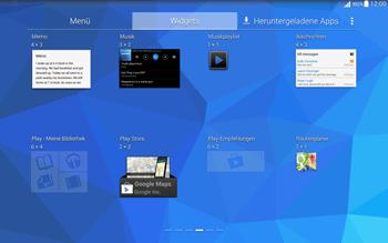 Samsung T535 Galaxy Tab 4 10.1 - Startanleitung - Installieren von Widgets und Apps auf der Startseite - Schritt 6