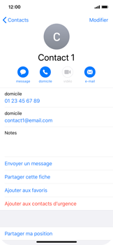 Apple iPhone 11 Pro - Contact, Appels, SMS/MMS - Ajouter un contact - Étape 11