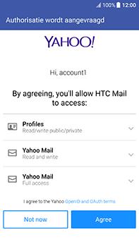 HTC U11 - E-mail - handmatig instellen (yahoo) - Stap 9