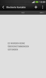 HTC Desire 500 - Anrufe - Anrufe blockieren - 5 / 11