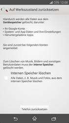 Sony Xperia T3 - Fehlerbehebung - Handy zurücksetzen - 8 / 11