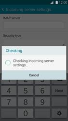 Samsung G900F Galaxy S5 - E-mail - Manual configuration IMAP without SMTP verification - Step 12