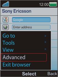Sony W595 - Internet - Manual configuration - Step 5
