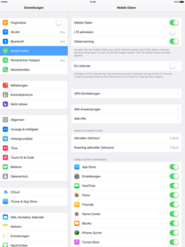 Apple iPad Pro 12.9 inch - Ausland - Im Ausland surfen – Datenroaming - Schritt 7