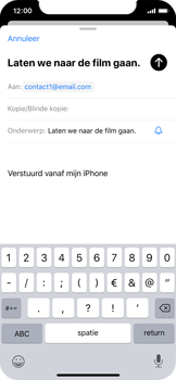 Apple iPhone X - iOS 13 - E-mail - e-mail versturen - Stap 6