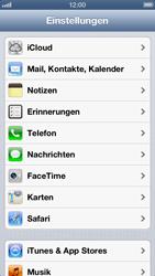 Apple iPhone 5 - Apps - Konfigurieren des Apple iCloud-Dienstes - Schritt 3