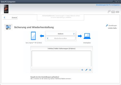 Sony Xperia X Compact - Software - Eine Sicherungskopie des Geräts erstellen - Schritt 4