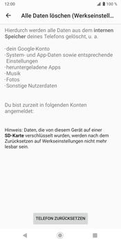 Sony Xperia XZ3 - Fehlerbehebung - Handy zurücksetzen - Schritt 10