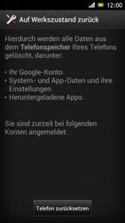 Sony Xperia J - Fehlerbehebung - Handy zurücksetzen - 8 / 10