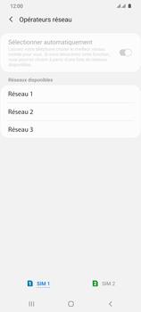 Samsung Galaxy S20 Ultra 5G - Réseau - Sélection manuelle du réseau - Étape 11