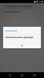 Sony D5503 Xperia Z1 Compact - voicemail - handmatig instellen - stap 9