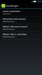 Alcatel Idol S - Anrufe - Rufumleitungen setzen und löschen - 7 / 10