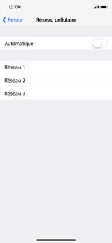 Apple iPhone XS - Réseau - Sélection manuelle du réseau - Étape 6