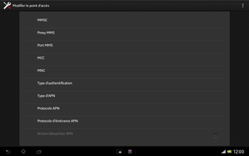 Sony Xperia Tablet Z LTE - MMS - Configuration manuelle - Étape 12