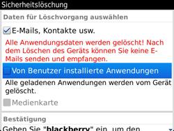BlackBerry 9900 Bold Touch - Fehlerbehebung - Handy zurücksetzen - Schritt 9