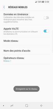 Samsung Galaxy S8 - Android Oreo - Réseau - Sélection manuelle du réseau - Étape 11
