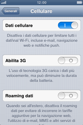 Apple iPhone 3GS - Internet e roaming dati - Disattivazione del roaming dati - Fase 6
