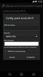 Sony Xpéria Z - Internet et connexion - Partager votre connexion en Wi-Fi - Étape 10