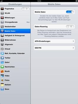 Apple iPad 2 - Ausland - Auslandskosten vermeiden - Schritt 7