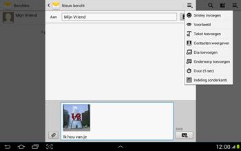 Samsung N8000 Galaxy Note 10-1 - MMS - hoe te versturen - Stap 14