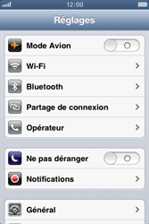 Apple iPhone 3GS - WiFi - Configuration du WiFi - Étape 5