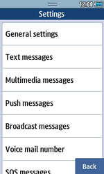Samsung S5250 Wave 525 - SMS - Manual configuration - Step 5