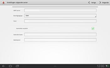 Samsung P7500 Galaxy Tab 10-1 - E-mail - e-mail instellen: POP3 - Stap 12