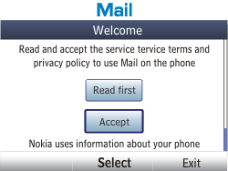 Nokia Asha 201 - Email - Manual configuration - Step 4