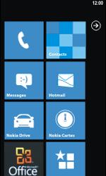 Nokia Lumia 800 - Wifi - configuration manuelle - Étape 1