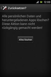 Sony Xperia E - Fehlerbehebung - Handy zurücksetzen - 9 / 10
