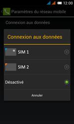 Alcatel One Touch Pop C3 - Internet et roaming de données - Comment vérifier que la connexion des données est activée - Étape 7