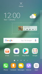 Samsung Galaxy S6 Edge - Android Nougat - Getting started - Installing widgets and applications on your start screen - Step 6