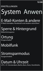 Nokia Lumia 610 - Internet - Manuelle Konfiguration - Schritt 4