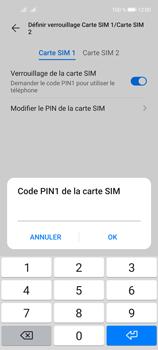 Huawei P40 Lite 5G - Sécuriser votre mobile - Personnaliser le code PIN de votre carte SIM - Étape 12