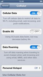 Apple iPhone 5 - Internet and data roaming - Disabling data roaming - Step 5