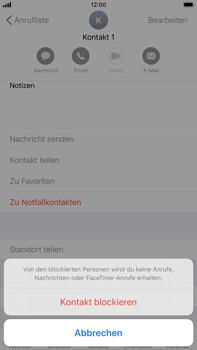 Apple iPhone 7 Plus - iOS 13 - Anrufe - Anrufe blockieren - Schritt 6