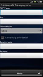 Sony Ericsson Xperia Arc S - E-Mail - Konto einrichten - Schritt 10