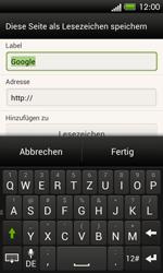 HTC One SV - Internet und Datenroaming - Verwenden des Internets - Schritt 8