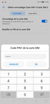 Huawei P20 - Sécuriser votre mobile - Personnaliser le code PIN de votre carte SIM - Étape 9