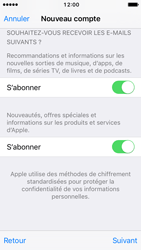 Apple iPhone SE - iOS 10 - Applications - Créer un compte - Étape 17